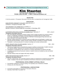 Chronological Resume Templates Traditional Or Reverse Chronological Resume Format Free Download