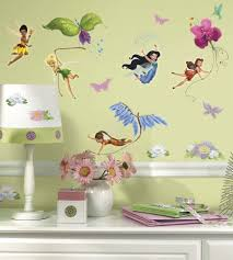 fairy wall decals winda furniture baby girl room decor fairy wall decal blowing stars wand vinyl art glittering collection disney fairies view larger