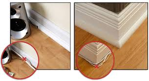 Laminate Flooring Skirting Board Trim by Hide Cables Wood Floors Pinterest Hide Cables Floor Trim