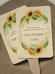 fans for weddings personalized fans for weddings wedding fans sunflower