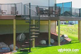 enhance your deck with an outdoor spiral staircase minneapolis