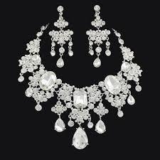 swarovski necklace set images 2018 2015 new bridal wedding party jewelry sets rhinestone earring jpg
