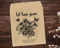 flower seed wedding favors seed wedding favors etsy