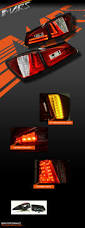 lexus yellow light clear red led 3d stripe bar tail lights for lexus isf is250 is350