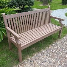 sandwick 3 seater garden bench dark by winawood amazon co uk