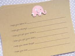 wishes for baby cards baby shower baby wish cards baby advice cards baby