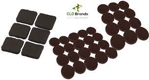 amazon com self adhesive black felt pads set 38 pieces