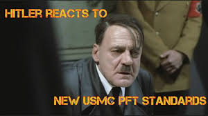 new prt standards hitler reacts to new marine corps pft standards youtube