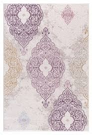 Cheap Area Rugs 5x8 Beige Purple Gold Damask Carpet Transitional Discount Area Rugs