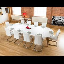 Large Oval Boardroom Table Large 3400mm Oval Boardroom Dining Table Set With 10 White Chairs