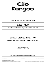 technical note 3529a xb07 xk07 fuel injection electrical