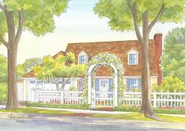 house portraits cottage style homes gallery
