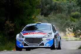 peugeot 207 rally greece acropolis rally super win for the new peugeot 208 t16