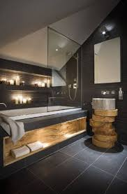 future home designs and concepts wood and tile inspired bathroom design homedesignboard