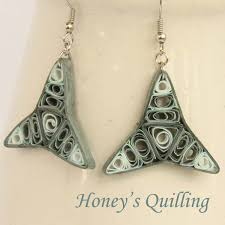 quilling earrings images cosmic tri point paper quilling earrings free tutorial honey s
