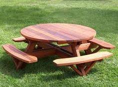 Free Plans Round Wood Picnic Table by Picnic Tables Toenail Two Sides With Wood Screws To The Table Top