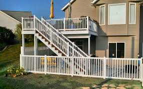 the beautiful choices of deck railing straight line fence