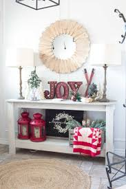 Farmhouse Christmas Entry and Landing Home for the Holidays