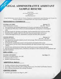 Free Sample Resume For Administrative Assistant by Legal Administrative Assistant Job Description Resume Legal