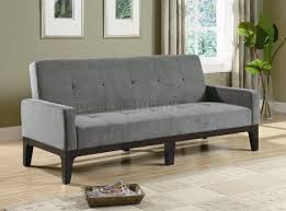 microfiber fabric for sofa grey microfiber fabric modern convertible sofa bed w wood base