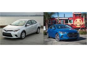toyota corolla similar cars 2017 toyota corolla vs 2017 hyundai elantra to u s