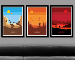 Home Decor Posters Force Inspired Minimalist Movie Poster Set Home Decor
