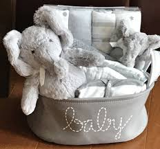 baby gift baskets elephant baby gift basket five brown monkies custom baby gift