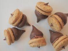 kisses acorn treats recipe wafer cookies butterscotch chips