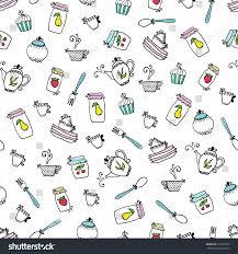 pattern kitchen utensils design elements kitchen stock vector