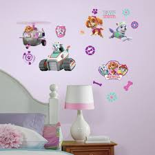roommates paw patrol pups peel and stick wall decals