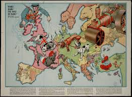 Europe Before 1914 Map by Wwi Satirical Map Of Europe Found In My Grandparents Attic Years