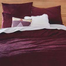 west elm velvet duvet covers u0026 bedding sets ebay