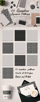 japanese pattern black and white japan seamless black white patterns patterns creative market