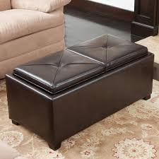 storage ottoman with tray living room contemporary with 2 tray top