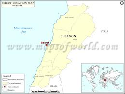 beirut on map where is beirut location of beirut in lebanon map