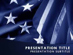 royalty free patriotism usa flag powerpoint template in blue