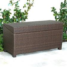 Storage Chest Bench Metal Garden Storage Chest Rattan Storage Box Outdoor Storage