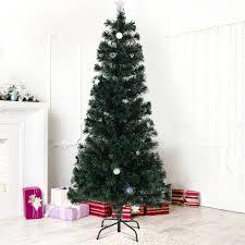 Artificial Tree Home Decor 6 Ft Fiber Optic Artificial Christmas Tree W Multicolor Lights
