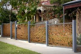 Luxurious Decorative Element Wonderful Motif Creating Unique Fence Ideas By Using Wood And