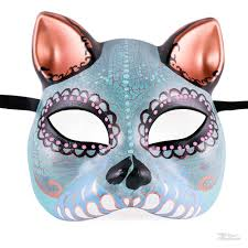 day of the dead home decor day of the dead cat mask gato muerto cat masquerade mask