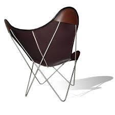 hardoy butterfly chair original leather coffee brown weinbaum