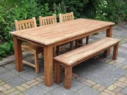 teak garden table 220 x 100 cm reclaimed teak furniture