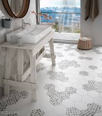 hexatile blanco mate decor insinuate porcelanico pinterest