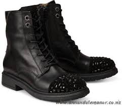 steel blue womens boots nz discounted price tosca shoes lace up boots kate black