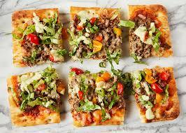 round table taco pizza flatbread taco pizza sweet potato chronicles