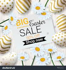 decorated eggs for sale big easter sale background beautiful stock vector 595623743