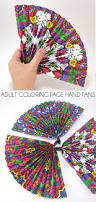 coloring page hand fans dream a little bigger