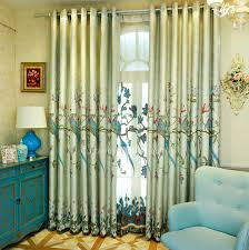Peacock Curtains Faux Linen Insulated Room Darkening Luxury And Decorative Peacock