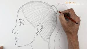 how to make a side face sketch drawings of faces from the side