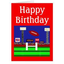 football happy birthday greeting cards zazzle